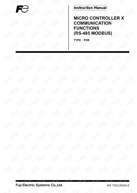 fuji控制器PXR系列通信功能(RS485 MODBUS)