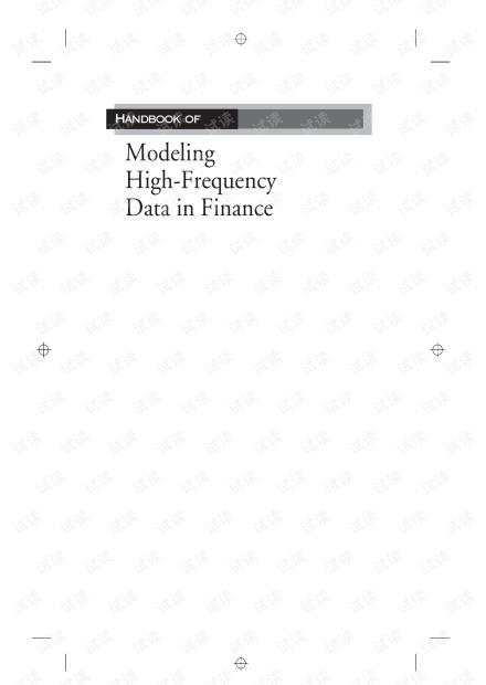 Handbook of Modeling High-Frequency Data in Finance英文版