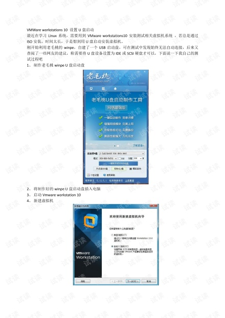 VMWare workstations 10 设置U盘启动