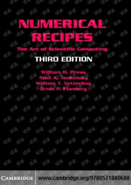 Numerical.Recipes 3rd edition.pdf