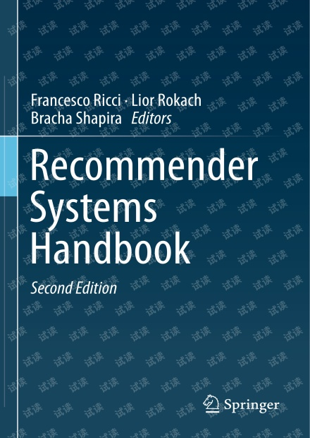 Recommender Systems Handbook, Second Edition