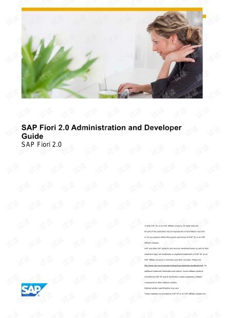 SAP Fiori 2.0开发指南