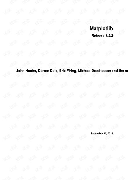 python matplotlib库的官方文档.