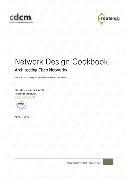 Network Design Cookbook: Architecting Cisco Networks by Michel Thomatis
