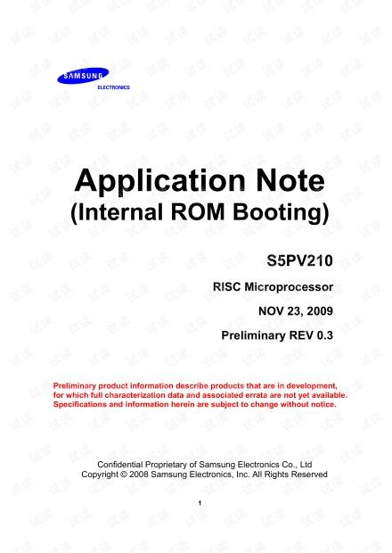 S5PV210_iROM_ApplicationNote_Preliminary_20091126