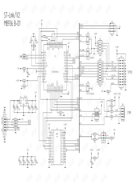 st link v2 官方原理图