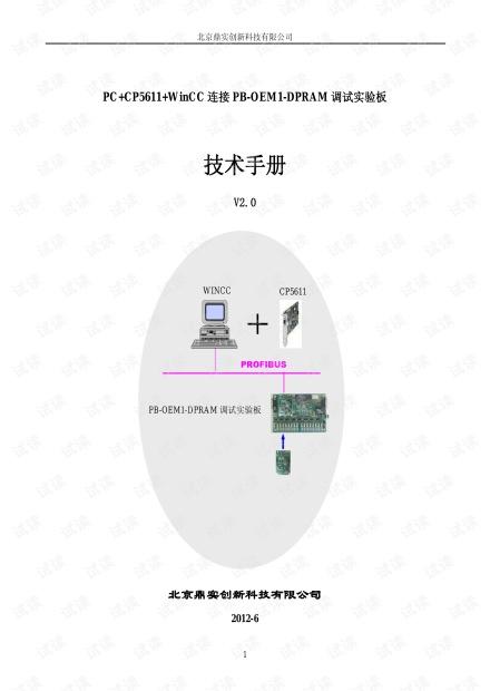 Profibus DP开发测试系统