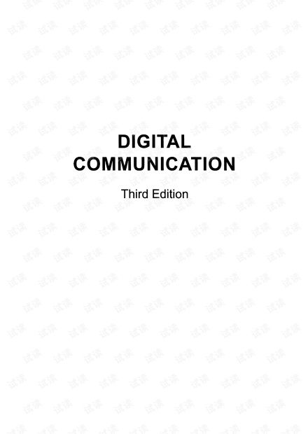 Digital Communication 3rd by John Barry