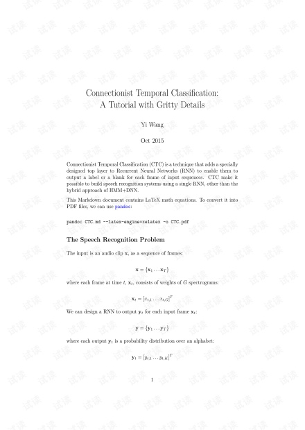 Connectionist Temporal Classification: A Tutorial with Gritty Details
