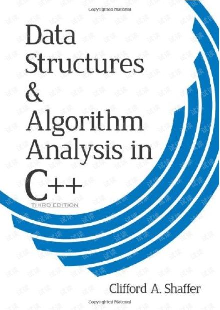 Data Structures & Algorithm Analysis in C++(3rd) 无水印pdf